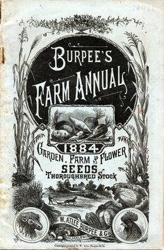 Burpees Farm Annual Seed Catalog Cover