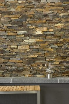 Dry Stone wall + bench / repinned on toby designs