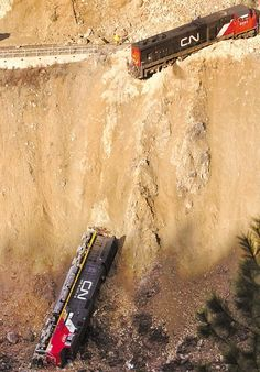 Almost look like toy trains in this serious derailment on the CNR mainline due…