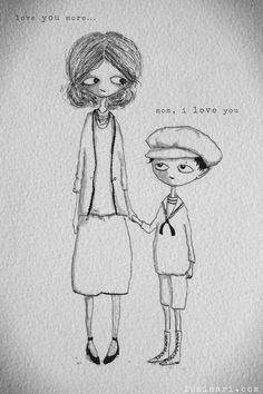 mother son illustration by lumimari love amour amore liebe