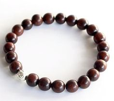Dark Sander Wood Tibetan Buddhism Mala Prayer with Six True Words Mantra Charm