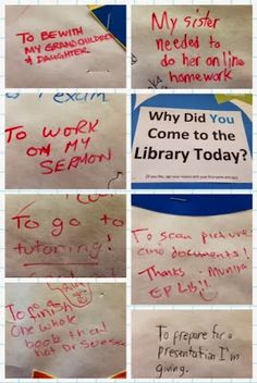"""""""Why do you come to the library today? Patron participation display idea."""