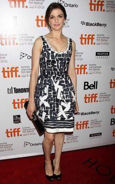 Rachel Weisz Print Dress - Rachel Weisz looked young and playful in this…
