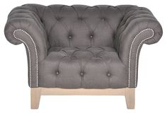 Finley roll-arm chair, birch frame, linen upholstery, nail-head trim, on sale for $699 from $1810 retail at One Kings Lane