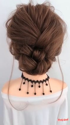 Bun Hairstyles For Long Hair, French Hairstyles, Hairstyles With Extensions, French Knot Hairstyle, Extension Hairstyles, Curly Hair Dos, Short Hair Dos, Quick Braided Hairstyles, Brown Hairstyles
