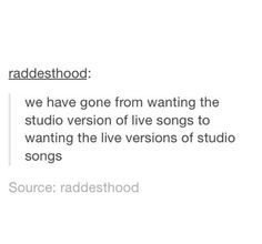 Yes. I need Never Be live. And Greenlight. And Social Casualty. And English Love Affair.