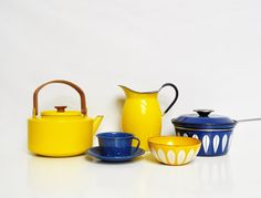 Catherineholm Lotus Pot with Handle by thewhitepepper on Etsy, $110.00