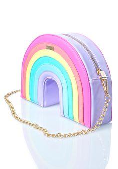 Skinnydip Rainbow Cross Body Bag I would absolutely love it. Chain Shoulder Bag, Crossbody Shoulder Bag, Crossbody Bag, Shoulder Bags, Shoulder Strap, Shoulder Handbags, Cute Purses, Purses And Bags, Cute Mini Backpacks