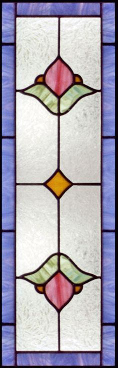 "stained+glass+patterns+for+sidelights | VIC13S"" STAINED AND LEADED GLASS VICTORIAN STYLE VERTICAL SIDELIGHT ..."
