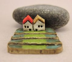 MyLand - Higher  - Collectible 3x3 cm or 1.2x1.2 in. puzzle in stoneware by elukka on Etsy https://www.etsy.com/listing/227178516/myland-higher-collectible-3x3-cm-or