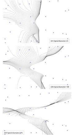 Generative design, 3D streamlines line drawings, interactive draw-o-mat