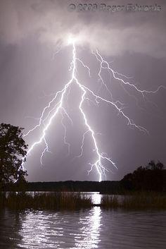 °Lakeside Lightning Strike by Roger Edwards ~  Lake Murray, southern Oklahoma
