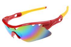 2014 Fake Oakley RadarLock Path sunglasses Polished Red Yellow | Colors
