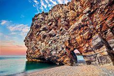"""Mylopotamos beach - Pelion, Greece."" by Hercules Milas | Redbubble Most Beautiful Beaches, Beach Look, Summer Looks, Travel Mug, Greece, Outdoor, Greece Country, Outdoors, Summer Fashions"