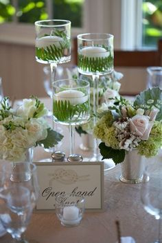 Image result for birch and moss centerpieces