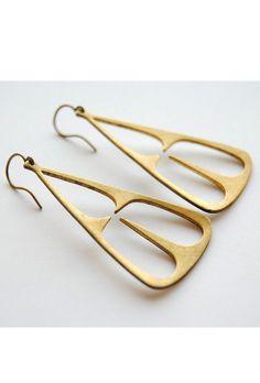 Tribal Triangle Earrings $18