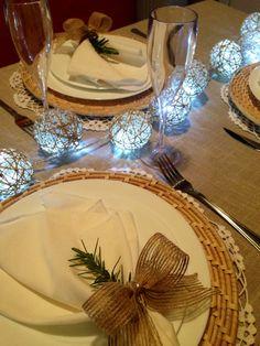 Decoração de mesa - Natal rústico chique