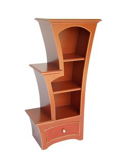 Stepped display cabinet with drawer. Made to order in your own choice of color.