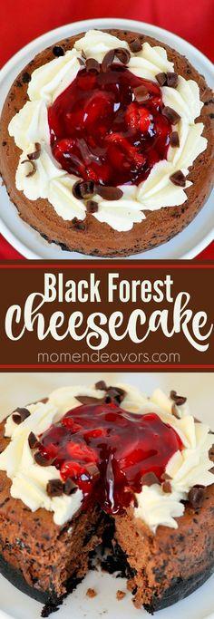 Black Forest Cheesecake - a delicious, decadent dessert.