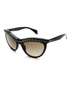 a72cd81527e Look at this Prada Black   Brown Swarovski Crystal Cat-Eye Sunglasses on   zulily