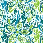 Green frog blue frog fabric by ebygomm at Spoonflower - custom fabric, wallpaper and wall decals