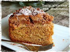 torta alemana con manzanas Esta es una de esas tortas que me siempre quise hacer y no daba con la receta perfecta ... descubrí que esta to