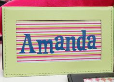 Personalized Checkbook Covers/Colorful Selection