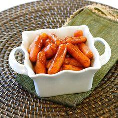 Slow Cooker Cinnamon Sugar Glazed Carrots