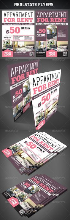 Realestate Flyers — Photoshop PSD #apartment #house • Available here → https://graphicriver.net/item/realestate-flyers/2631063?ref=pxcr