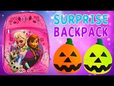 FROZEN SURPRISE BACKPACK - Barbie Monster High Lego Zelfs Princess Play Doh Egg MLP - YouTube