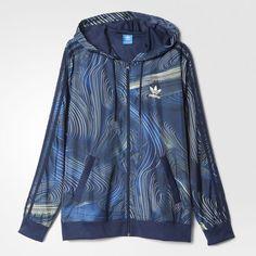 adidas - Jaqueta Corta-Vento Blue Geology