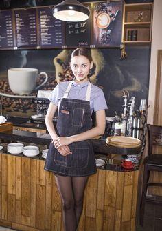 Cafe Apron, Bbq Apron, Cafe Uniform, Waiter Uniform, Chef Dress, Waitress Outfit, Flirty Aprons, Bar A Vin, Restaurant Uniforms