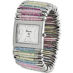 could I make something like this? @Overstock.com - This unique and stylish watch features beaded safety pins on a stretch band.http://www.overstock.com/Jewelry-Watches/Geneva-Womens-Platinum-Safety-Pin-Stretch-Watch/5535670/product.html?CID=214117 $21.99