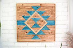 Arte  Arte de pared de madera  arte geométrico de madera