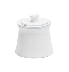 COSTA NOVA Friso collection. Sugar bowl. White.