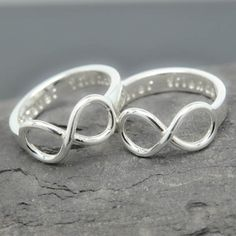 Infinity ring, promise ring, personalized ring, best friend ring, mother daughter ring, sisters ring, heart ring, Bridesmaid Gift, Engraved by JubileJewel on Etsy