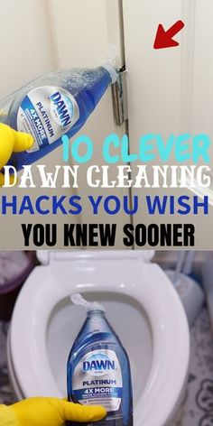 Dawn dish soap household and cleaning tips, tricks, and hacks. Dawn dish soap household and cleaning tips, tricks, and hacks. Diy Home Cleaning, Bathroom Cleaning Hacks, Homemade Cleaning Products, Household Cleaning Tips, Deep Cleaning Tips, House Cleaning Tips, Natural Cleaning Products, Shower Cleaning Tips, Cleaning Agent