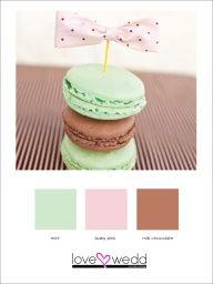 Pastel Green pink brown