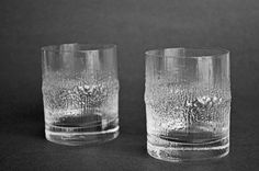 GORGEOUS double old fashioneds in which to serve exquisite drinks; mmmmm. IIittala Niva Glasses designed by Tapio Wirkkala by DishingItUp, $32.00