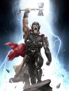 Old King Thor! Art by Tag a friend! Hulk Comic, Hulk Avengers, Hulk Marvel, Marvel Art, Marvel Heroes, Marvel Characters, Comic Art, Hulk Coloring Pages, Thor Tattoo