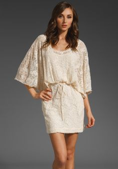 Revolve: Alora Lace Dress- Made me think of @Michelle Talley