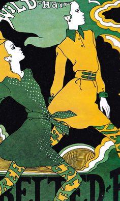 sweetjanespopboutique:             ILLUSTRATION BY ANTONIO LOPEZ 1967.               psychedelic / poster / art / illustration / Art Nouveau / 60's