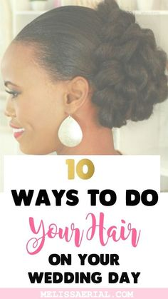 Braided Updo Hairstyles To Style On Your Natural Or Relaxed Hair. Natural Hair Wedding, Natural Hair Updo, Wedding Hair Pins, Wedding Hair And Makeup, Natural Hair Care, Black Brides Hairstyles, Braided Hairstyles Updo, Bride Hairstyles, Protective Hairstyles For Natural Hair