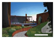 Architectural drawing, Perspective (SAGA) le voyage enchanté des travailleurs cosmiques  - by Samuel Boudreault