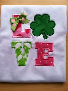 St. Patrick's Day LOVE  Custom Shirt St. Patricks