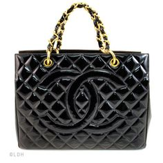 Look Hot but Remain Cool with a Chanel Patent Leather Shopping Tote