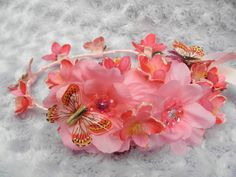 Fuschia Pink Cherry Blossom Butterfly by ButterflyHollowTree, $40.00