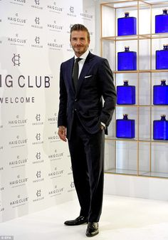 The main man!David Beckham cut a dapper figure at a marketing event for Haig Club whiskey in Spain's capital city, Madrid, on October 7, 2015