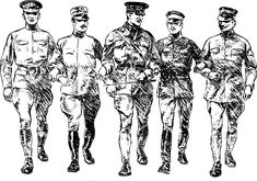 World War I soldiers by j4p4n