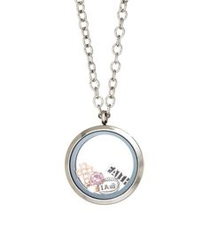 This Stainless Steel 'Faith' Locket With Crystals From SWAROVSKI is perfect! #zulilyfinds